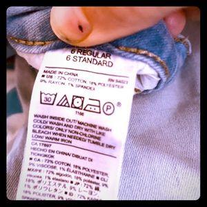 Girls old navy size 6 reg skinny jeans w/o holes